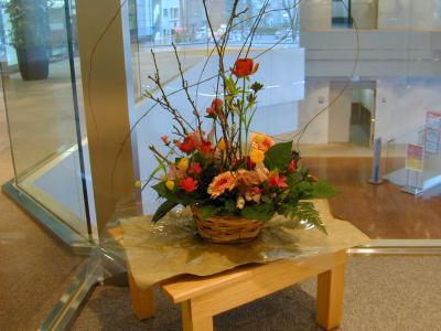 コーナーの花