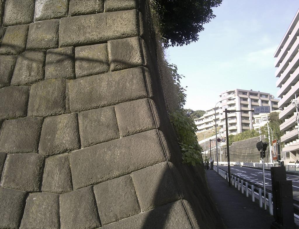 旧平沼家別邸亀甲積擁壁